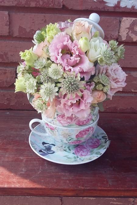 Aranjament floral - Nuante de lisiantus