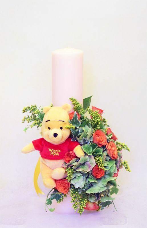 Lumanare De Botez Winnie The Pooh Flori Pentru Nunta Buchete