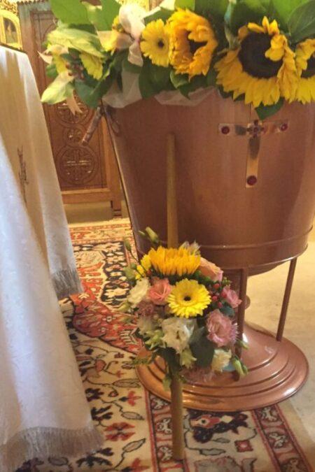 Lumanare de botez - Floarea soarelui