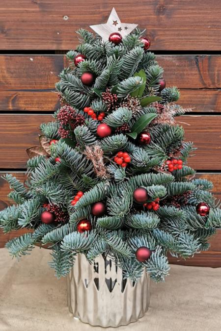 Aranjamente florale - Brăduț Crăciun 45cm