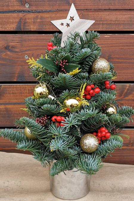 Aranjamente florale – Brăduț Crăciun 20 cm
